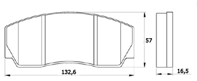 колодка Ferodo FRP216