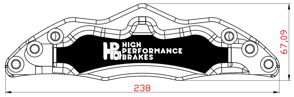 Суппорт HPB 4pot 286-304x22мм