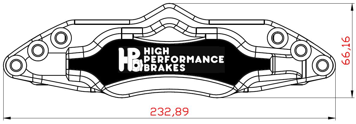 Суппорт задний HPB 6pot 330-356x28мм