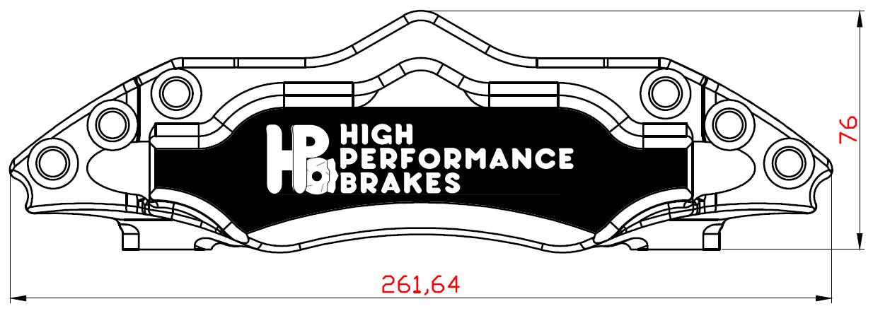 Суппорт задний HPB 6pot 356-380х32мм