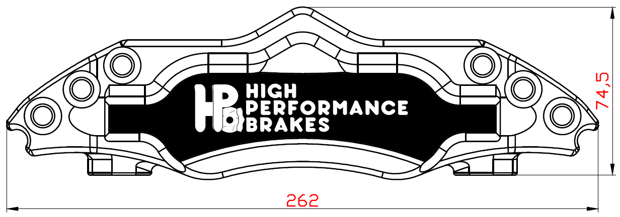 Суппорт передний HPB 4pot 6pot 330x32мм