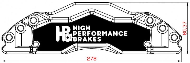 Суппорт передний HPB 6pot 330-345-356х32мм
