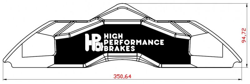 Суппорт передний HPB 8pot 380х34мм 405х36мм