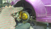 Toyota Altezza тормоза hpb задние для дрифта (4)