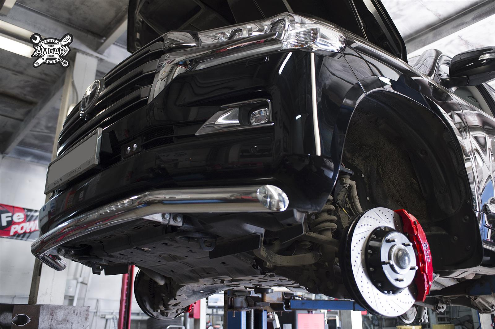 Toyota Land Cruiser 200. Замена тормозной системы. Ставим HPB (10)