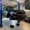 Тормоза для Infiniti QX80. Установка HPB. Front 430x36mm U8pot +rear 405x34mm R6pot.