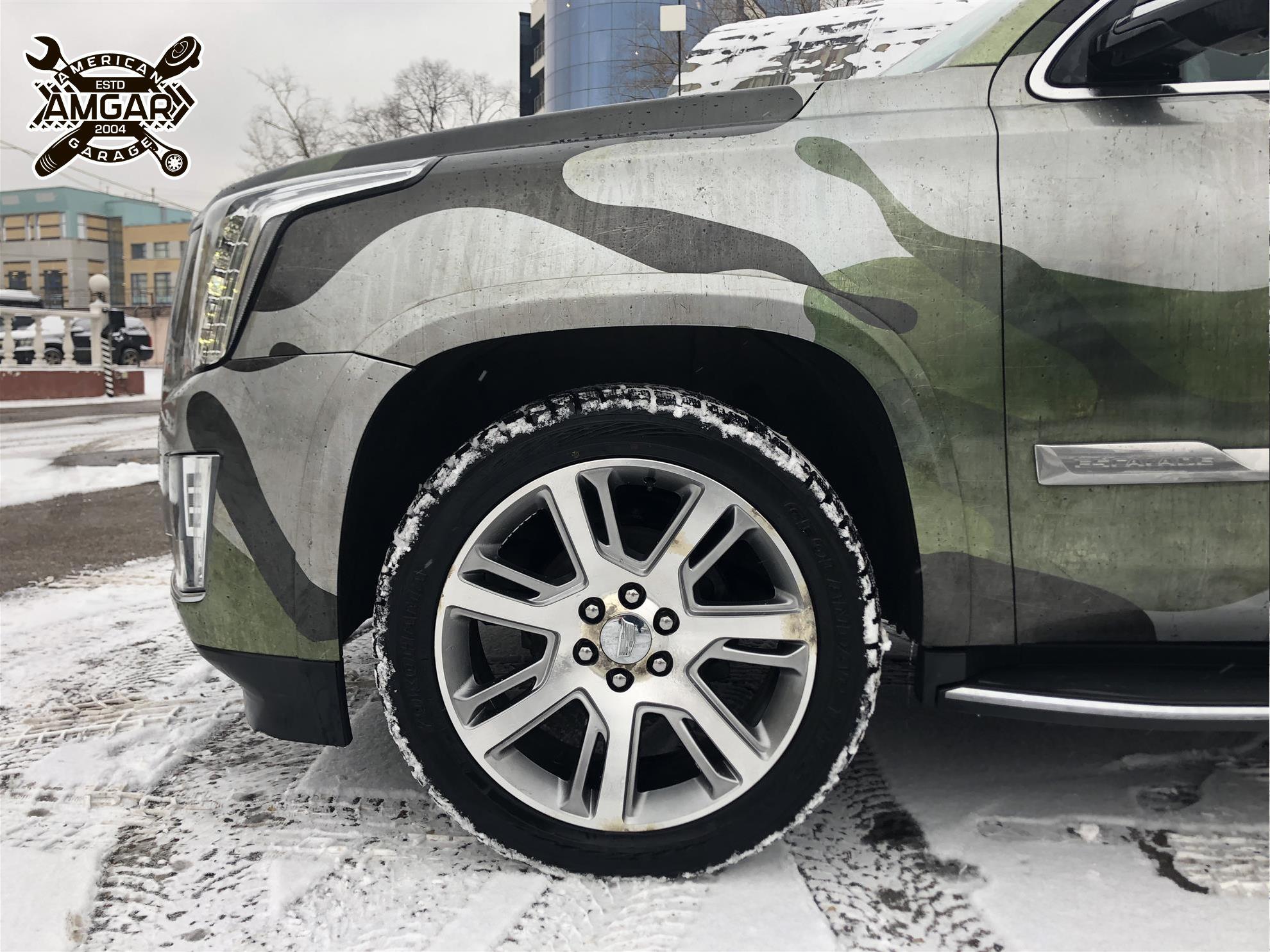 Cadillac Escalade установка тормозной системы (2)
