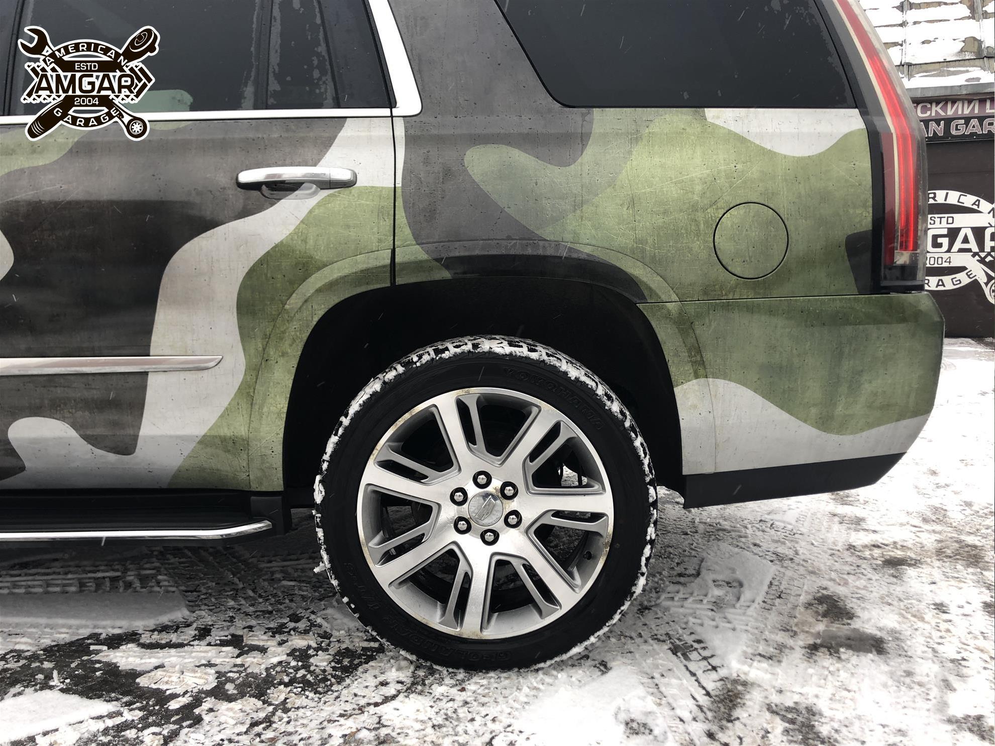 Cadillac Escalade установка тормозной системы (3)
