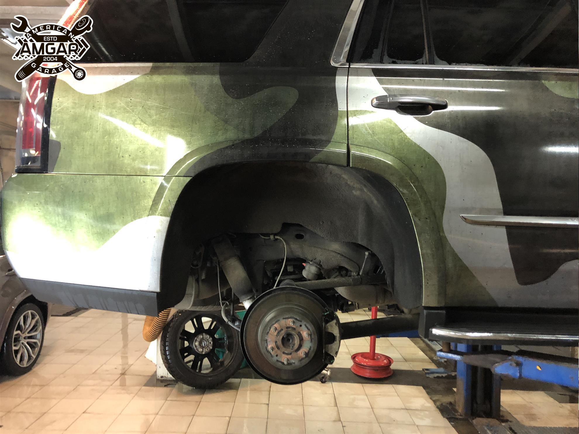 Cadillac Escalade установка тормозной системы (6)