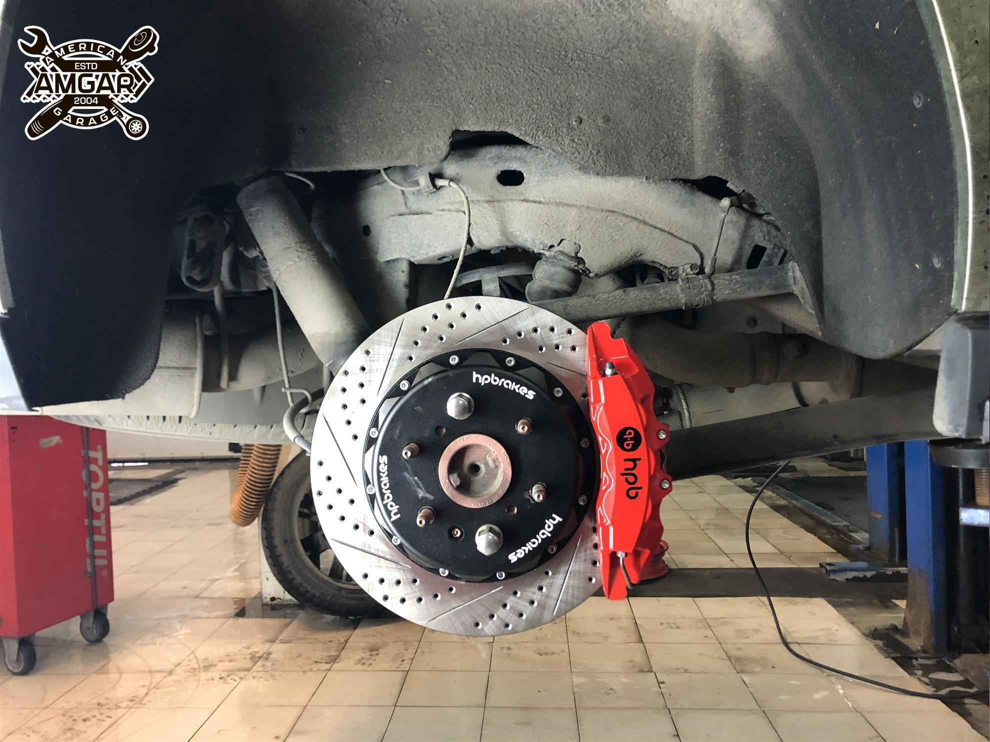 Cadillac Escalade установка тормозной системы HP-Brakes (12)