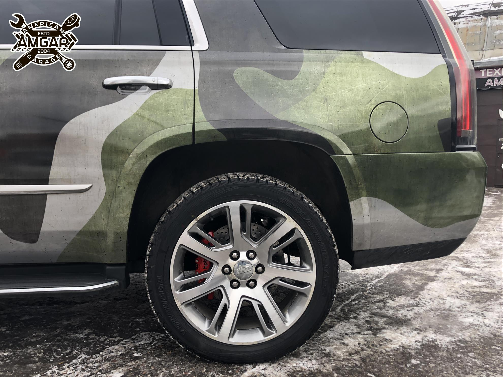 Cadillac Escalade установка тормозной системы HP-Brakes (15)